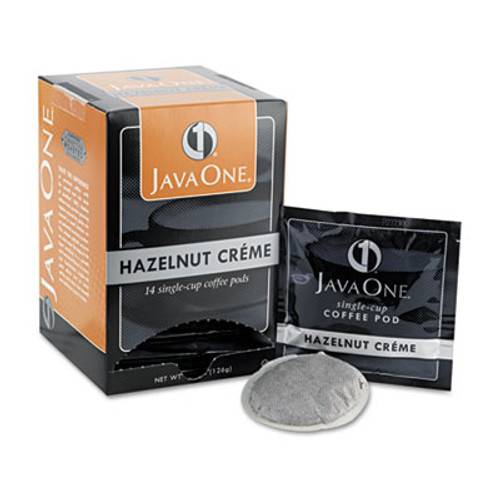 Java One Coffee Pods  Hazelnut Creme  Single Cup  14 Box (JAV70500)