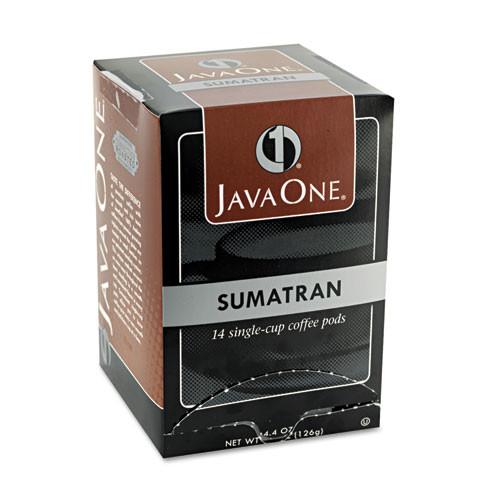 Java One Coffee Pods  Sumatra Mandheling  Single Cup  14 Box (JAV60000)