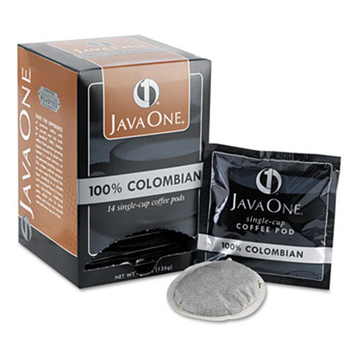 Java One Coffee Pods  Colombian Supremo  Single Cup  14 Box (JAV30200)
