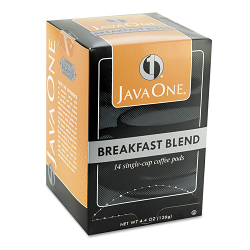 Java One Coffee Pods  Breakfast Blend  Single Cup  14 Box (JAV30220)