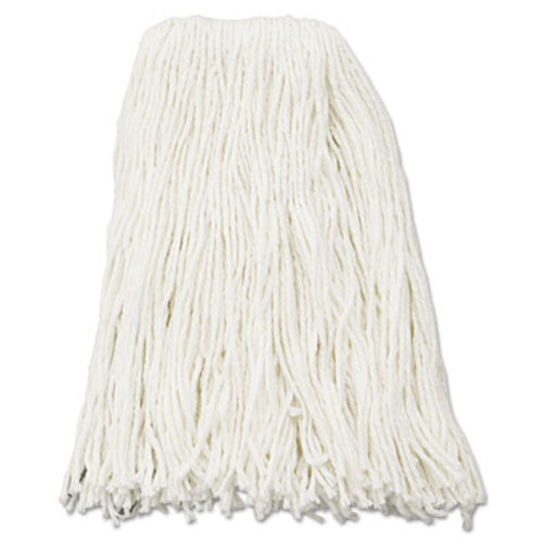 Boardwalk Premium Cut-End Wet Mop Heads  Rayon  16oz  White  12 Carton (BWK216RCT)