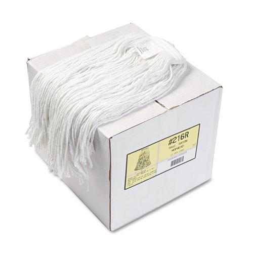 Boardwalk Premium Cut-End Wet Mop Heads  Rayon  16oz  White  12 Carton (BWK216RCT)