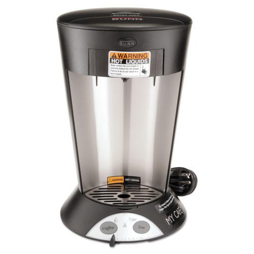 BUNN My Cafe Pourover Commercial Grade Coffee Tea Pod Brewer  Stainless Steel  Black (BUNMCP)