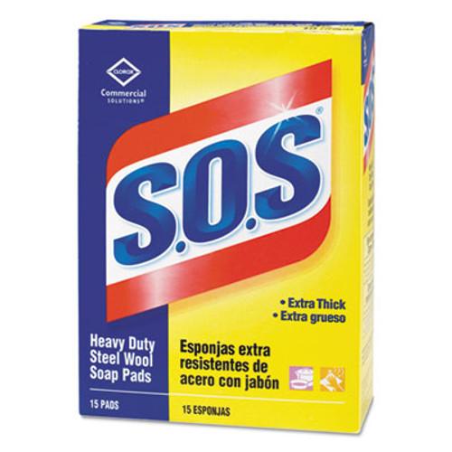 S.O.S. Steel Wool Soap Pad  15 Pads Box  12 Boxes Carton (CLO88320CT)