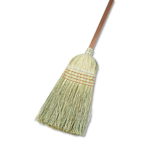 "Boardwalk Warehouse Broom, Yucca/Corn Fiber Bristles, 42"" Wood Handle, Natural (BWK932YEA)"