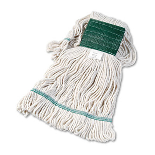 Boardwalk Super Loop Wet Mop Head  Cotton Synthetic Fiber  5  Headband  Medium Size  White (BWK502WHEA)