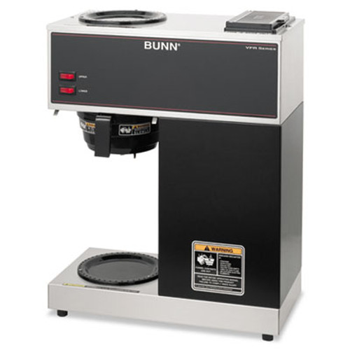 BUNN VPR Two Burner Pourover Coffee Brewer  Stainless Steel  Black (BUNVPR)