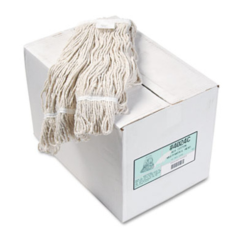 Boardwalk Pro Loop Web Tailband Wet Mop Head  Cotton  12 Carton (BWK4024CCT)