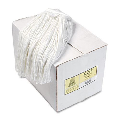 Boardwalk Premium Cut-End Wet Mop Heads  Rayon  24oz  White  12 Carton (BWK224RCT)