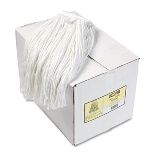 Boardwalk Premium Cut-End Wet Mop Heads  Rayon  24oz  White  12 Carton (BWK224RCT)