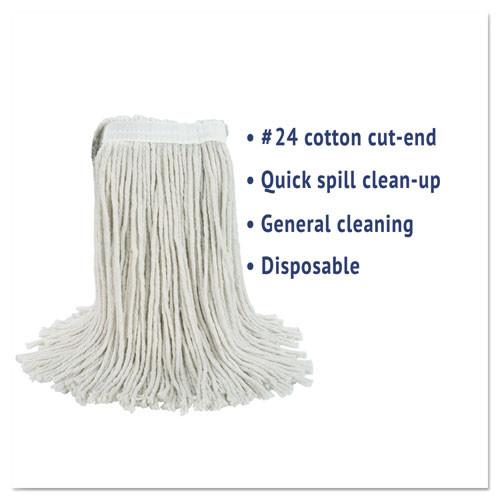 Boardwalk Cut-End Wet Mop Head  Cotton  No  24  White (BWK2024CEA)