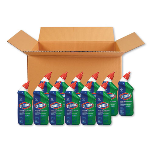 Clorox Toilet Bowl Cleaner with Bleach  Fresh Scent  24oz Bottle (CLO00031EA)
