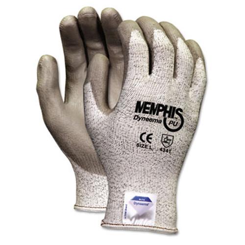 MCR Safety Memphis Dyneema Polyurethane Gloves  Large  White Gray  Pair (CRW9672L)
