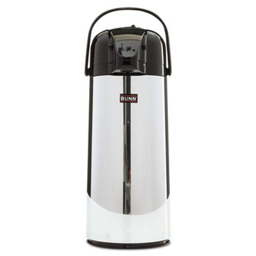 BUNN 2 2 Liter Push Button Airpot  Stainless Steel (BUNAIRPOT22)