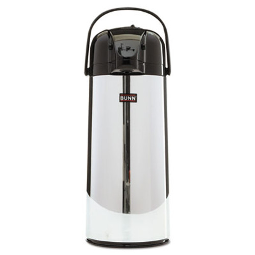 BUNN 2 2 Liter Push Button Airpot  Stainless Steel (BUNAIRPOT22)