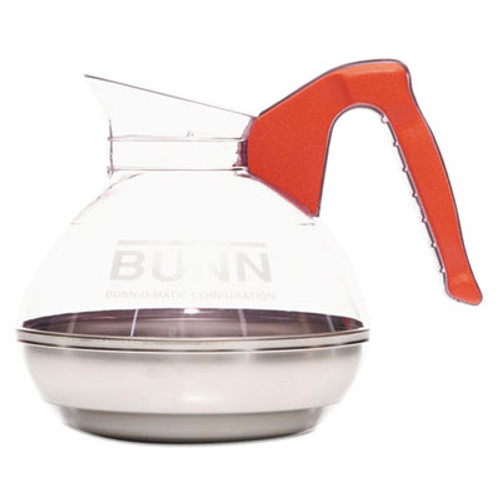 BUNN 64 oz  Easy Pour Decanter  Orange Handle (BUN6101)
