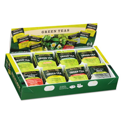Bigelow Green Tea Assortment  Individually Wrapped  Eight Flavors  64 Tea Bags Box (BTC30568)