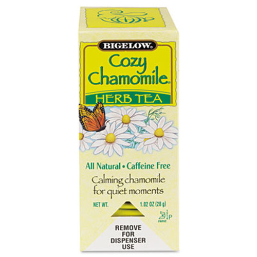 Bigelow Single Flavor Tea, Cozy Chamomile, 28 Bags/Box (BTC00401)