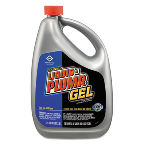Liquid Plumr Heavy-Duty Clog Remover  Gel  80oz Bottle (CLO35286EA)
