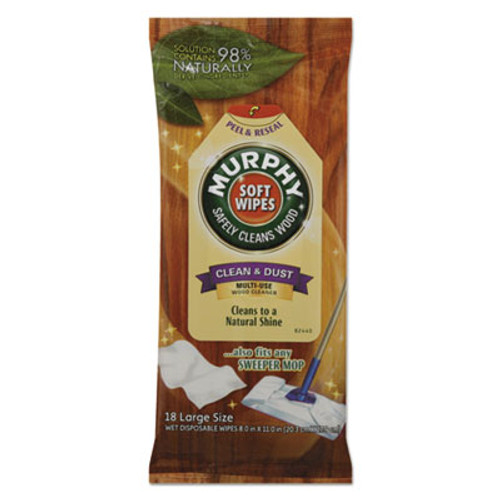 Murphy Oil Soap Soft Wipe, Cloth, 8 x 11, White, 18/Pack (CPC25902PK)