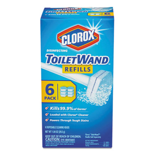 Clorox Disinfecting ToiletWand Refill Heads  6 Pack (CLO14882)