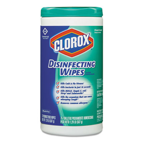 Clorox Disinfecting Wipes  7 x 8  Fresh Scent  75 Canister (CLO15949EA)
