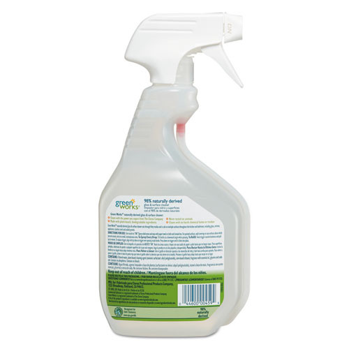 Green Works Glass   Surface Cleaner  Original  32oz Smart Tube Spray Bottle (CLO00459)