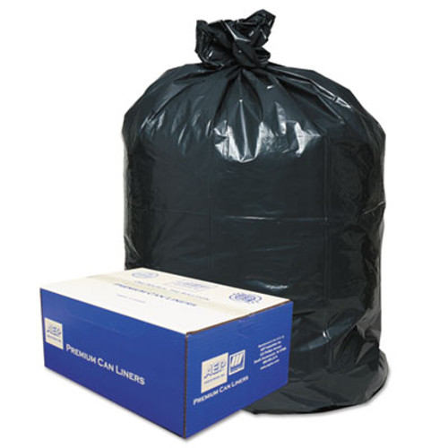 Classic Linear Low-Density Can Liners  45 gal  0 63 mil  40  x 46   Black  250 Carton (WBI404616B)