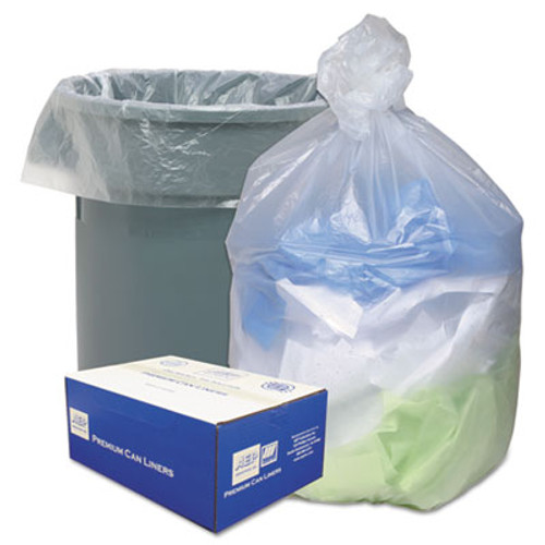 Ultra Plus High Density Can Liners, 40-45gal, 12 Microns, 40 x 48, Natural, 250/Carton (WBIHD404812N)