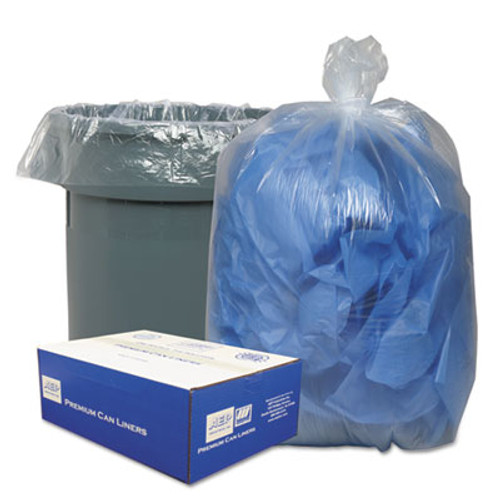 Classic Clear Linear Low-Density Can Liners  45 gal  0 63 mil  40  x 46   Clear  250 Carton (WBI404616C)