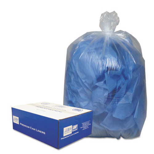 Classic Clear Linear Low-Density Can Liners  10 gal  0 6 mil  24  x 23   Clear  500 Carton (WBI242315C)