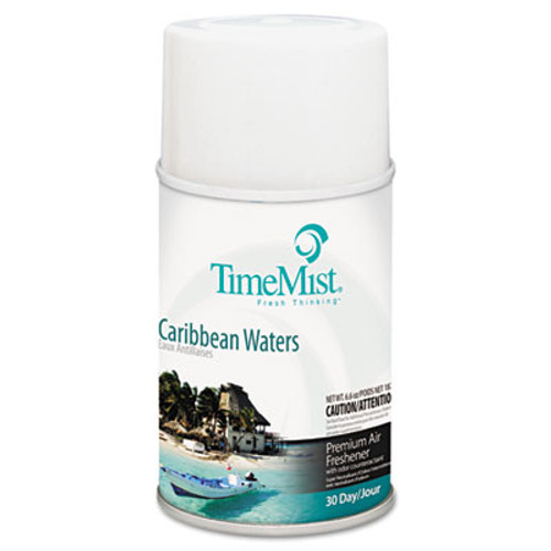 TimeMist Metered Fragrance Dispenser Refill, Caribbean Waters, 6.6 oz, Aerosol (TMS1042756EA)