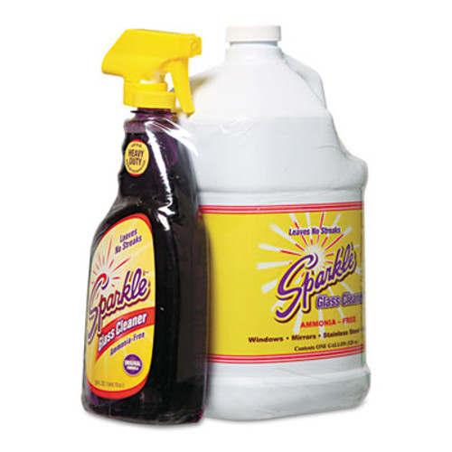 Sparkle Glass Cleaner  One Trigger Bottle   Onegal Refill (FUN20515)