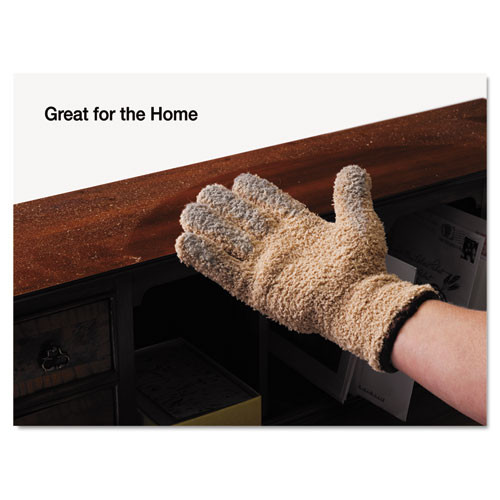 Master Caster CleanGreen Microfiber Cleaning and Dusting Gloves  Pair (MAS18040)