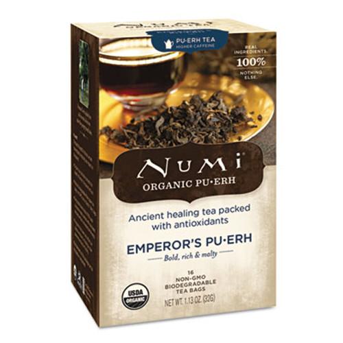 Numi Organic Teas and Teasans  0 125 oz  Emperor's Puerh  16 Box (NUM10350)