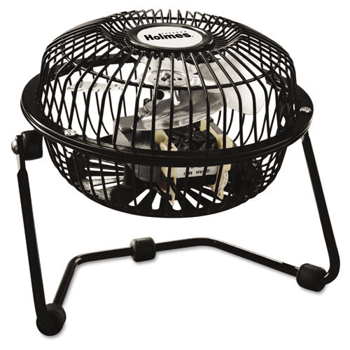 Holmes Mini High Velocity Personal Fan  One-Speed  Black (HLSHNF0410ABM)