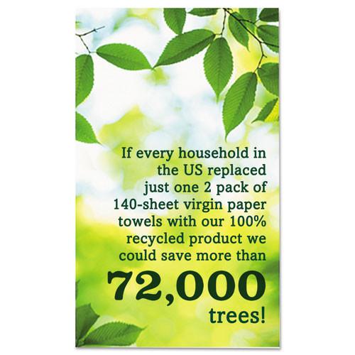 Seventh Generation 100  Recycled Paper Towel Rolls  2-Ply  11 x 5 4 Sheets  140 Sheets RL  6 PK (SEV13731PK)