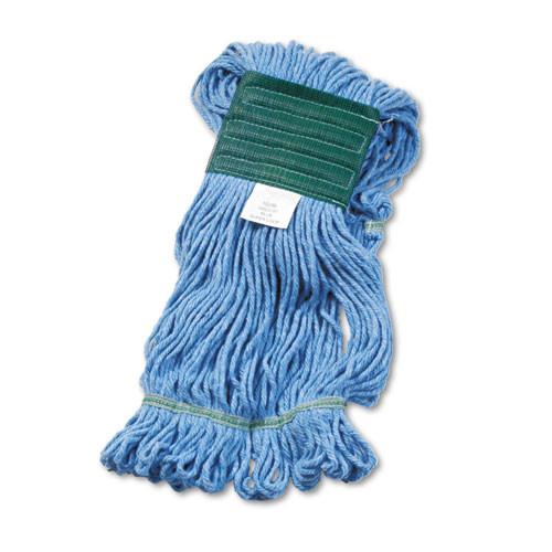 Boardwalk Super Loop Wet Mop Head  Cotton Synthetic Fiber  5  Headband  Medium Size  Blue (BWK502BLEA)