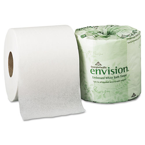 Georgia Pacific Professional Embossed Bathroom Tissue  Septic Safe  1-Ply  White  550 Sheets Roll  40 Rolls Carton (GPC1984101)