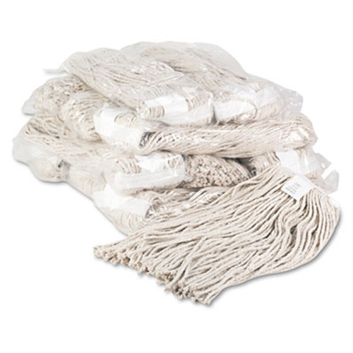 Boardwalk Premium Cut-End Wet Mop Heads, Cotton, 20oz, White, 12/Carton (BWK220CCT)