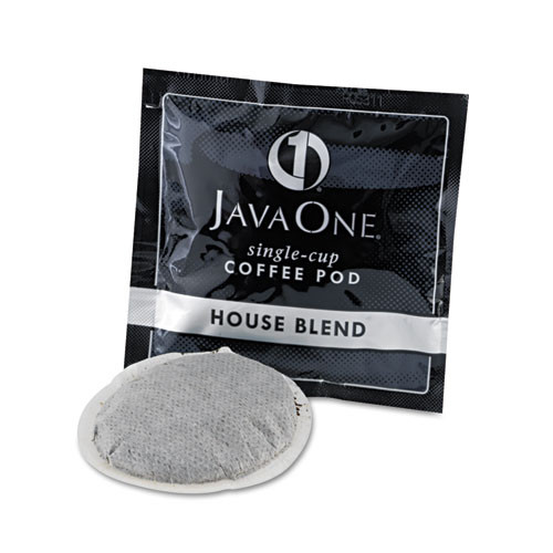 Java One Coffee Pods  House Blend  Single Cup  14 Box (JAV40300)