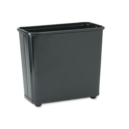 Rubbermaid Commercial Fire-Safe Wastebasket, Rectangular, Steel, 7.5gal, Black (RCPWB30RBK)