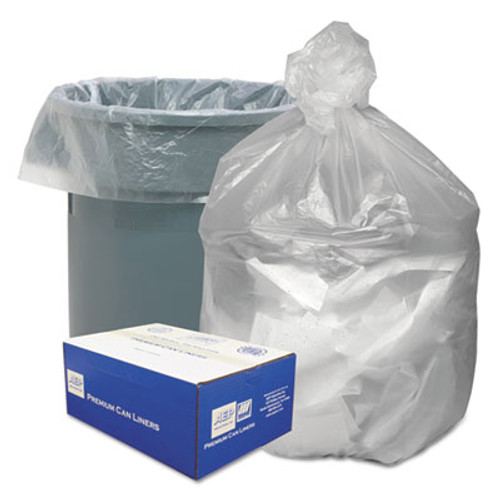 Good 'n Tuff Waste Can Liners  45 gal  10 microns  40  x 46   Natural  250 Carton (WBIGNT4048)
