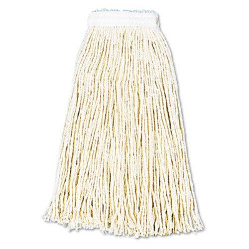 Boardwalk Premium Cut-End Wet Mop Heads  Cotton  16oz  White  12 Carton (BWK216CCT)