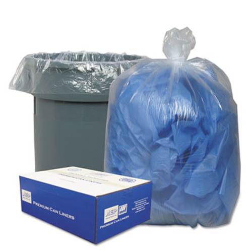 Classic Clear Clear Low-Density Can Liners, 56gal, .9 Mil, 43 x 47, Clear, 100/Carton (WBI434722C)