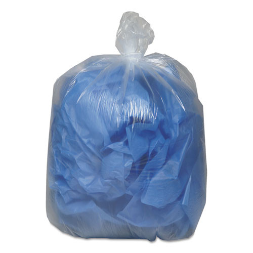 Classic Clear Linear Low-Density Can Liners  56 gal  0 9 mil  43  x 47   Clear  100 Carton (WBI434722C)