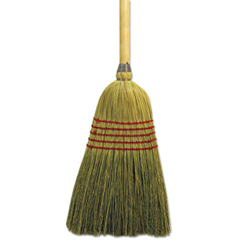 "Boardwalk Parlor Broom, Yucca/Corn Fiber Bristles, 42"" Wood Handle, Natural (BWK926YEA)"