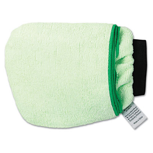 Boardwalk Grip-N-Flip 10 Sided Microfiber Mitt, 7 x 6, Green (BWKMICROMITTGRE)