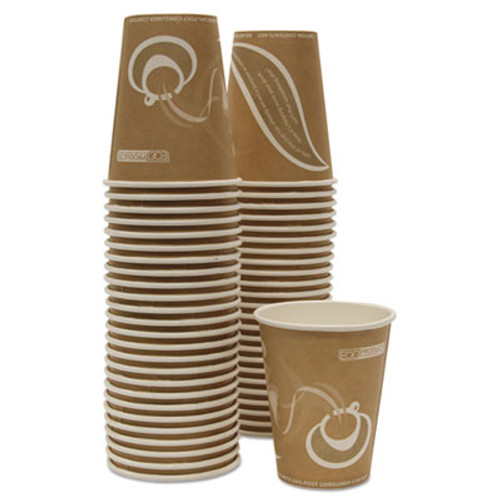 Eco-Products Evolution World 24  Recycled Content Hot Cups Convenience Pack - 8oz   50 PK (ECOEPBRHC8EWPK)
