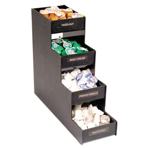 Vertiflex Commercial Grade Narrow Condiment Organizer  6w x 19d x 15 7 8h  Black (VRTVFC1916RC)